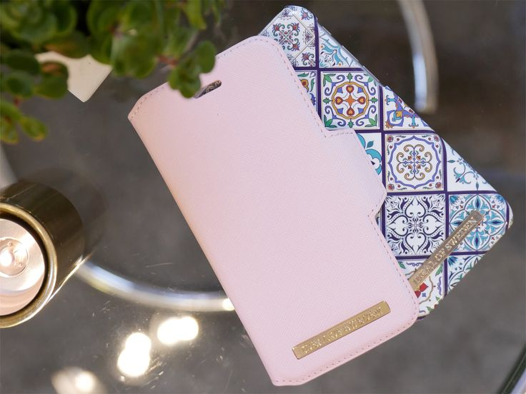 Pink case, pink wallet, mosaic case, iphone case, case with patterns, bohemian case, boho, pink details. idealofsweden, ideal of sweden