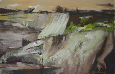 "Saatchi Art Artist Manlio Rondoni; Painting, ""paesi e orizzonti"" #art"