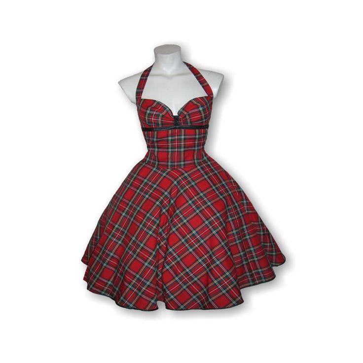 Schottenkaro Kleid im Stil der 50er Jahre, hergestellt in liebevoller Handarbeit aus Berlin für Petticoatkleid Liebhaberinen 😉