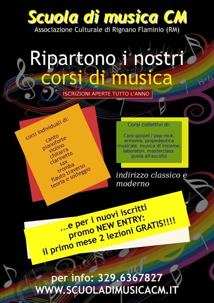 Corsi di musica CM aperte le iscrizioni per il nuovo anno www.scuoladimusicacm.it  #scuoladimusicacm #corsimusica #corsicanto #corsiviolino #corsichitarra #masterclass