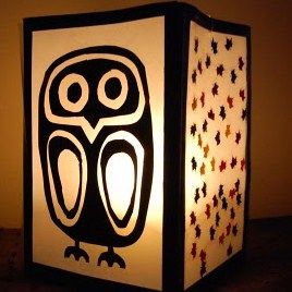 autumn crafts lantern    perfect for my new room, i love owls.