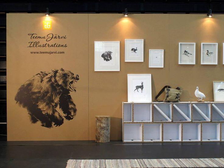 Teemu Järvi Illustrations Exhibition stand