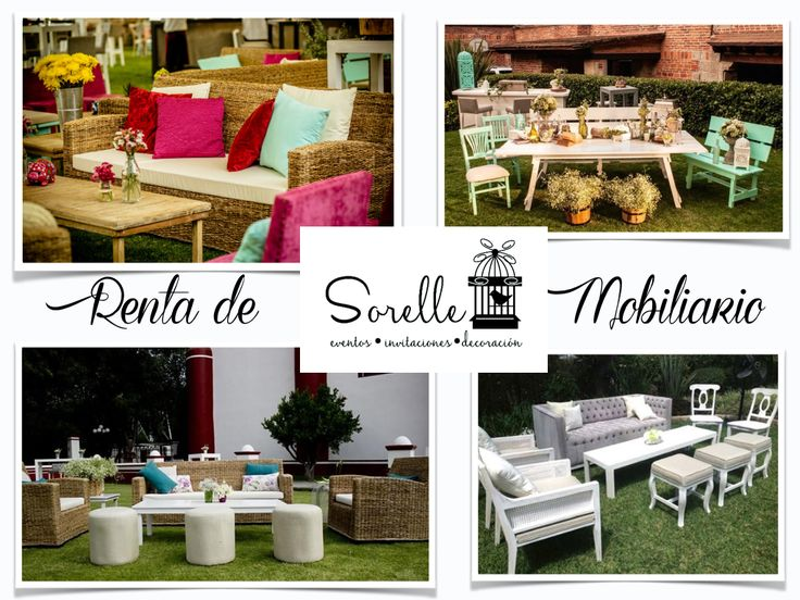 Renta de mobiliario, Sorelle, Eventos, Mesas de dulces, Salitas, Decoración, Vintage