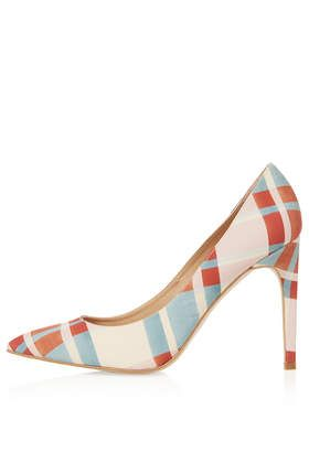 GLORY Check Print Court Shoes
