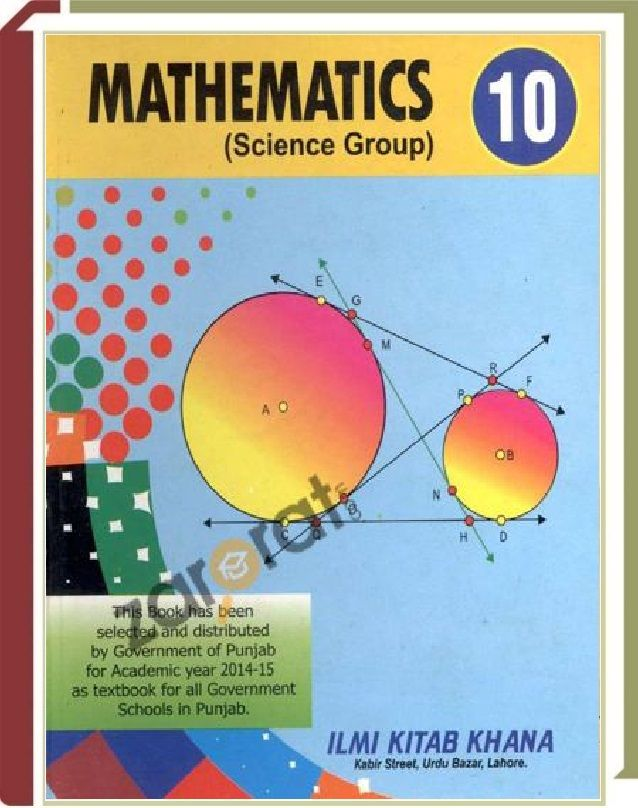 Mathematics 10th Class Text Book Pdf Download Free Mathematics