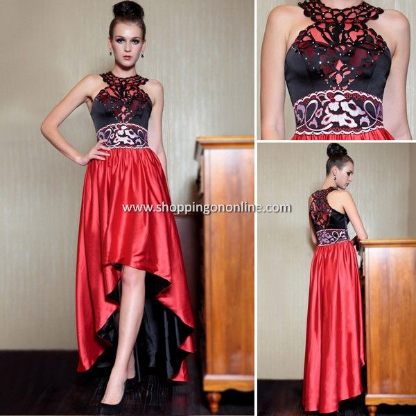 Red Evening Dress - Sexy Hi-lo Halter $178.99 Click here to see more details http://shoppingononline.com/red-evening-dresses/red-evening-dress-sexy-hi-lo-halter.html #HiLoDress #SexyDress #RedEveningDress #RedDress