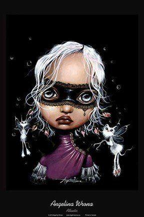 Atlantis Poster Print by Angelina Wrona Fantasy Art Magical Modern Dark