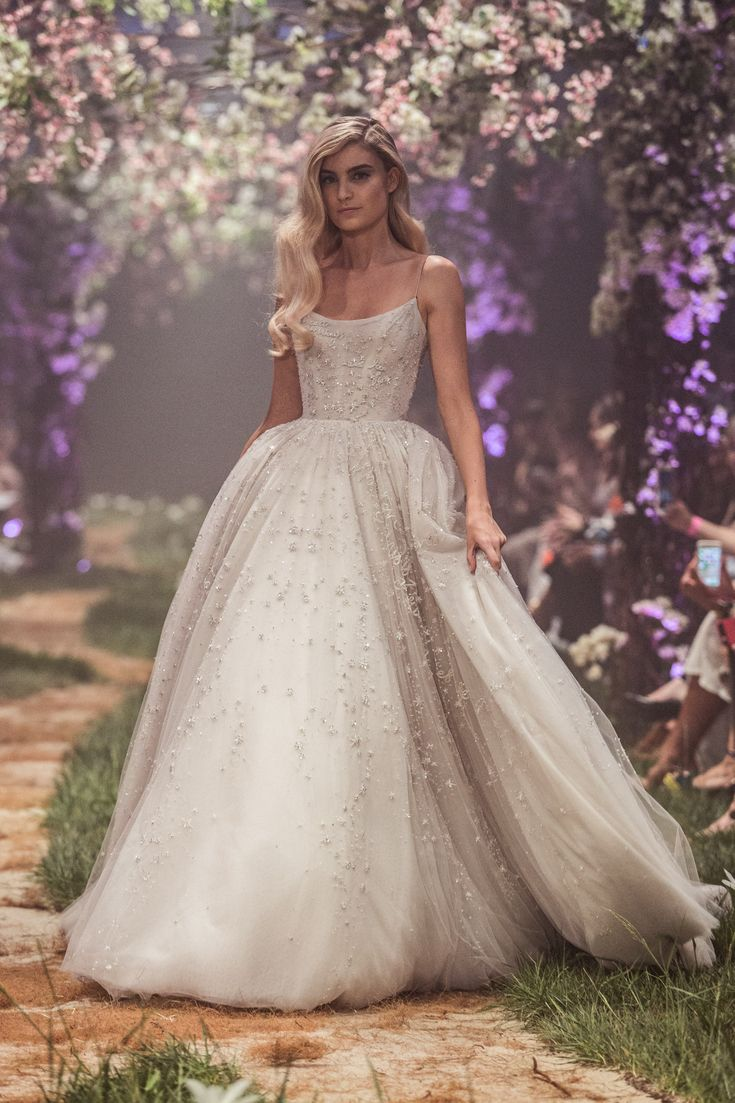 PSS/S1820 – Tulle ball gown with fairy dust inspired beadwork, featuring the lyrics of Cinderella's, 'So This is Love'.