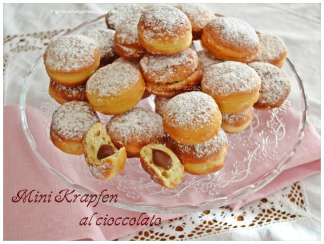 Any secret...: Mini krapfen al cioccolato con lievito madre