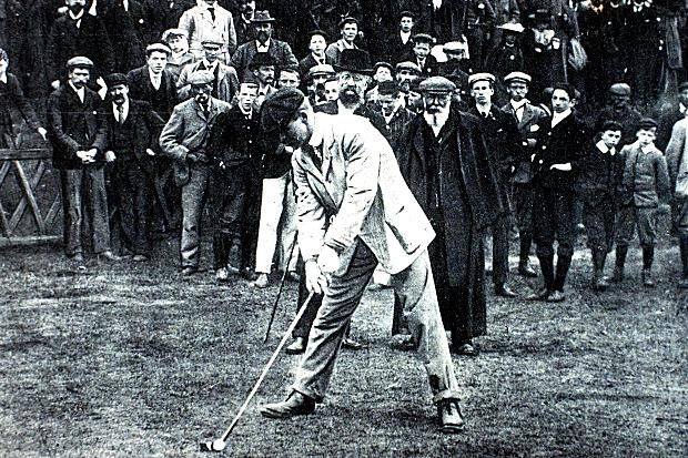 9 best g o g o l f i n g images on pinterest vintage golf j h taylor the british open championships 1900 jh taylor prepares to drive off as fandeluxe Image collections
