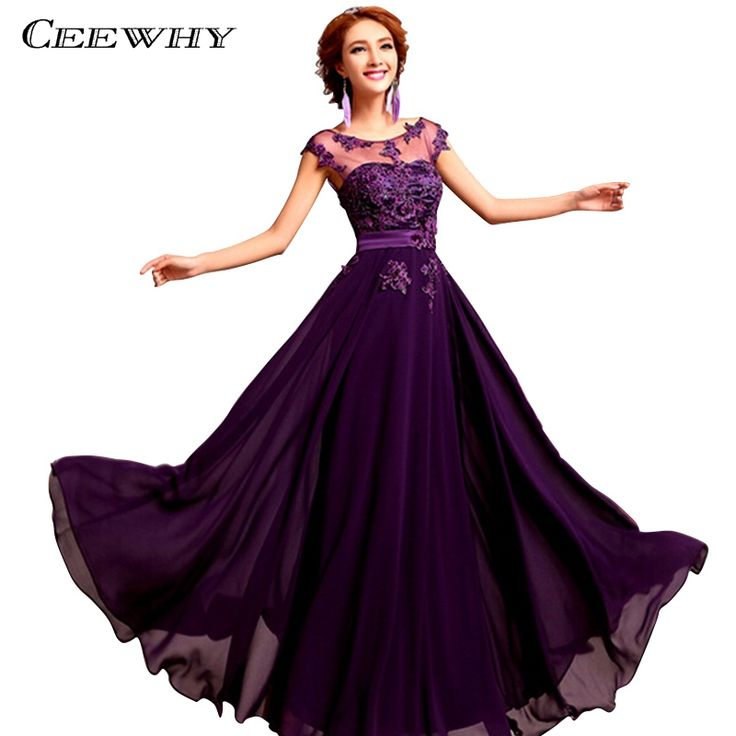 39.19$  Buy here - Chiffon Pearls Embroidery Sleeveless Women Formal Gowns Wedding Party Dresses Elegant Long Red A-Line Bridesmaid Dresses   #aliexpresschina