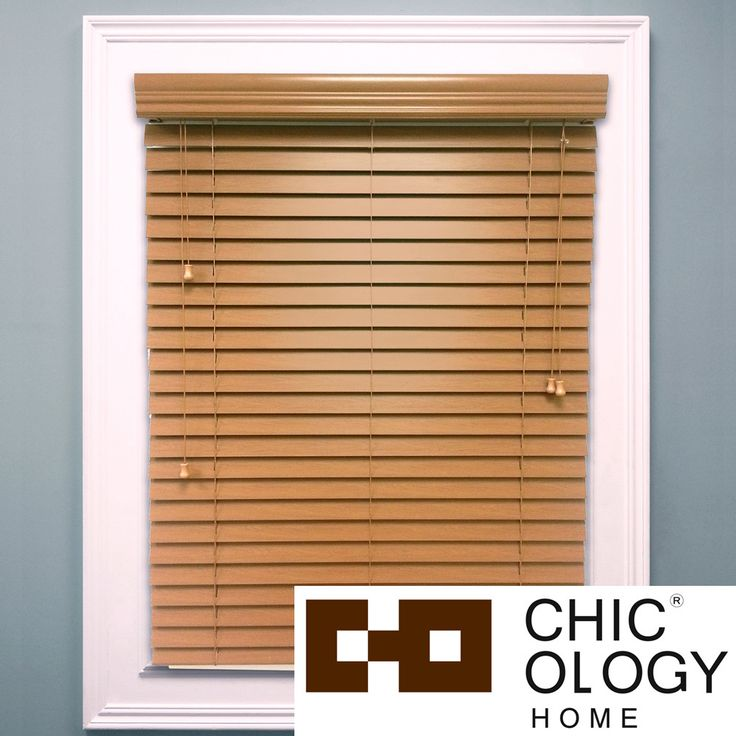 From the kitchen to the study, every room in your home gets an instant style uplift with the addition of distinguished faux-wood blinds. Featuring generously sized 2-inch panels with the look of real wood, accented with color correct ladder strings.