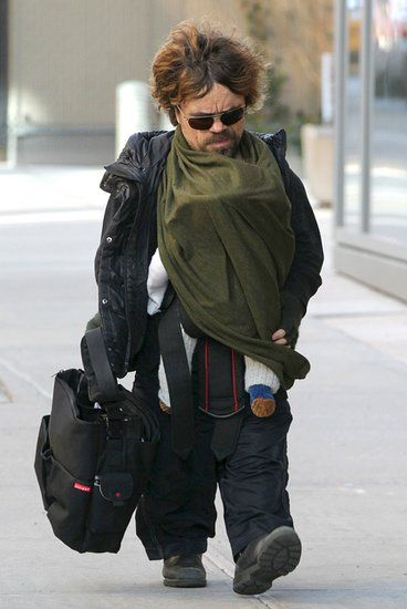 Baby-Wearing Celebrity Dads - we have the same diaper bag as Dinklage!