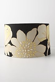Lampshade: lampshade, black, yellow, off white, flower: White Flowers, Decor Ideas, Barns Estate, House Ideas, Future Nests, Home Lighting, Lampshades Embellishments, Master Bedrooms, Bedrooms Style