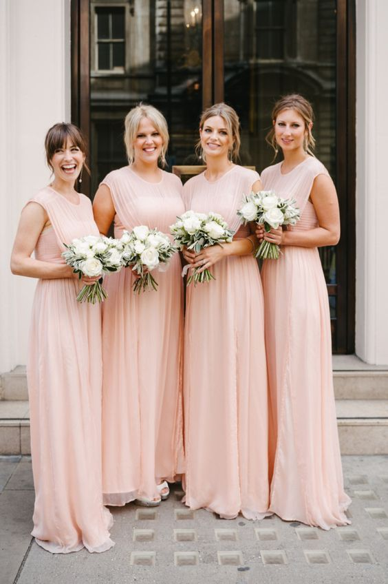 Pretty in pink bridesmaids. A lovely look in pink without being too girly.