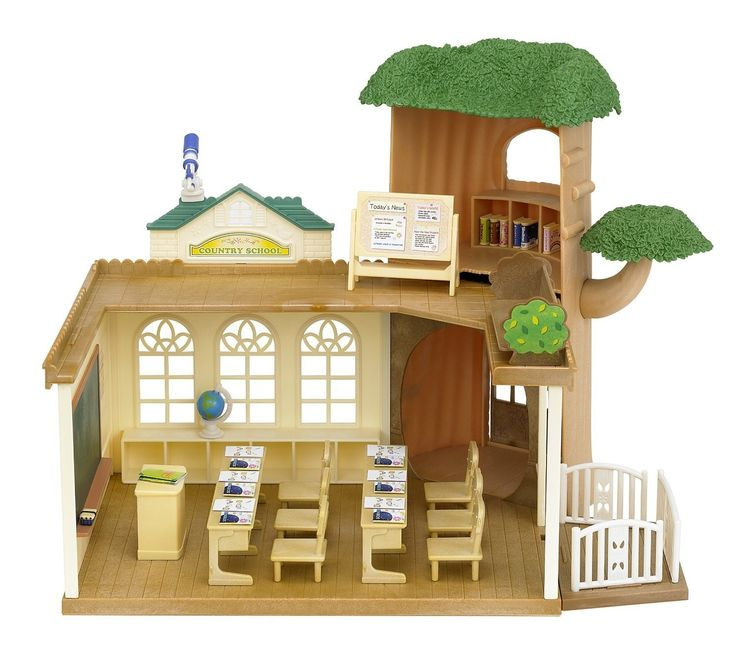 Sylvanian Families - Country Tree School - Sylvanian Families - Shop #EntropyWishList #PinToWin  Playing school is one of the girls favourite games