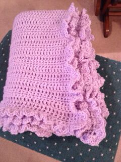 Hand rocheted blanket