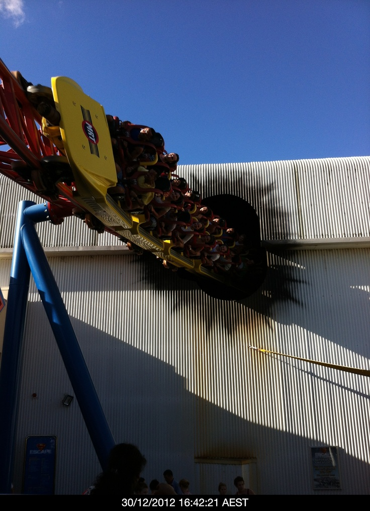 The Superman Escapes ride at Warner Bros Movieworld on the Gold Coast.