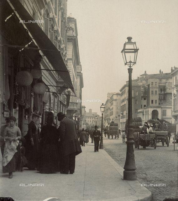 Via Nazionale a Roma (02-05-1889)