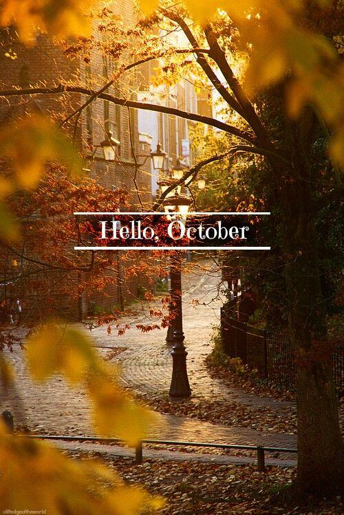 Hello, beautiful, magical October!