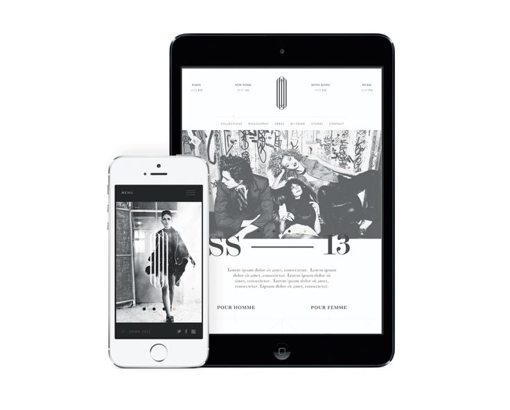 Responsive wbsite designed by Two Times Elliott for Paris accessory brand Odmé.