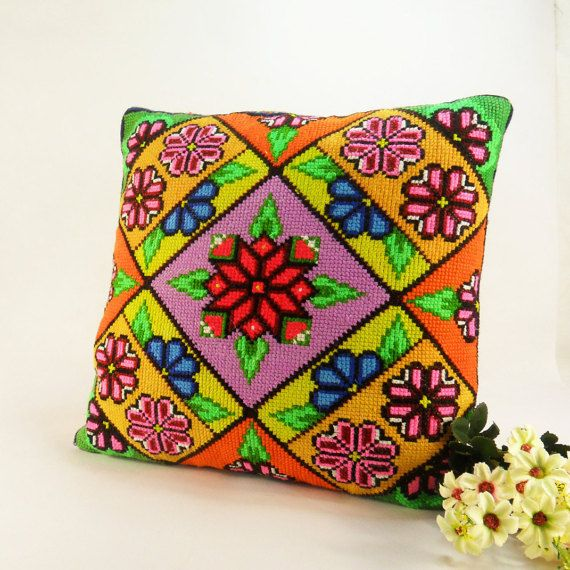 Decorative Pillows Vintage Embroidered Pillowcase Pillow by FediyS