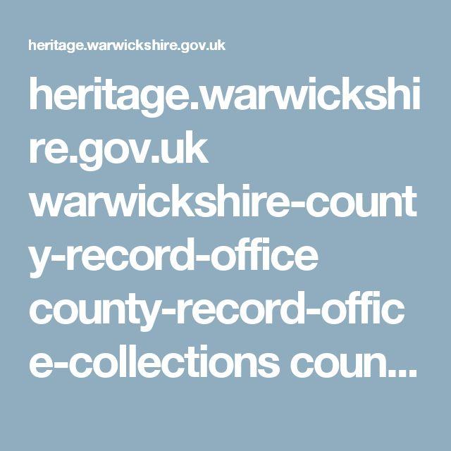 heritage.warwickshire.gov.uk warwickshire-county-record-office county-record-office-collections county-record-office-tracing-your-warwickshire-ancestors