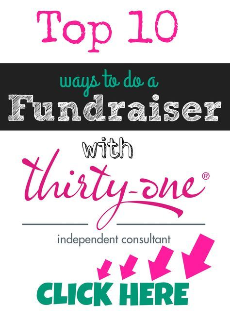 Top 10 Ways to do a Fundraiser With Thirty-One Gifts
