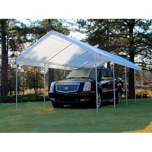 King Canopy 10 x 27 ft. Canopy Replacement Drawstring Carport Cover | from hayneedle.com