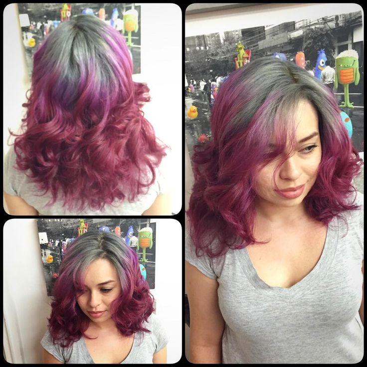 #novoarte #grayhair #grannyhair #cabelocinza #beetrootombre #cabelovinho #cabeloscoloridos by @kito_bo