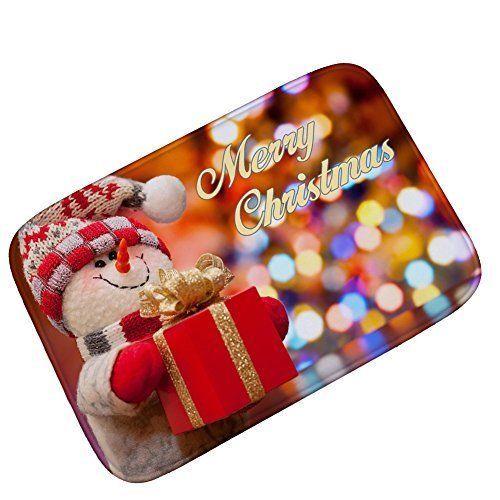 Merry Christmas Doormat Welcome Door Mat Rug Indoor/Outdoor Mat Decoration Rug #YJGWL