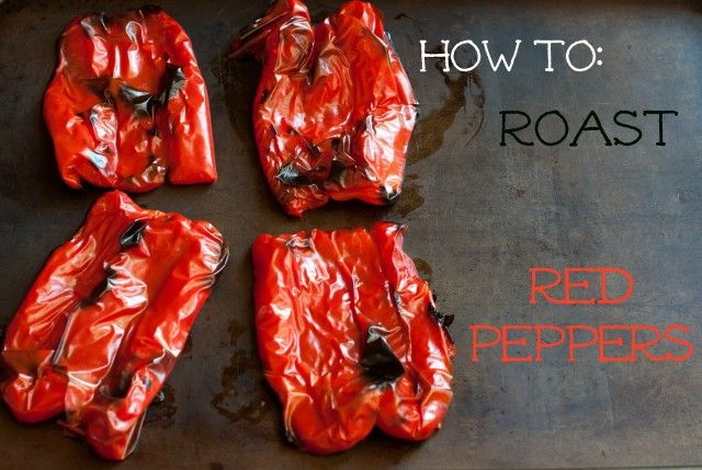 Here's a simple tutorial on how to roast red peppers.