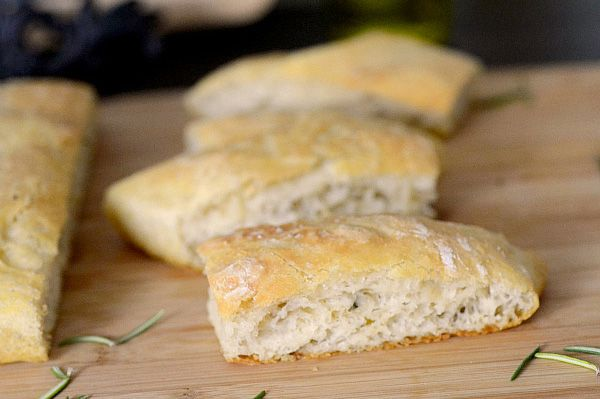 Crock-pot rosemary olive oil bread