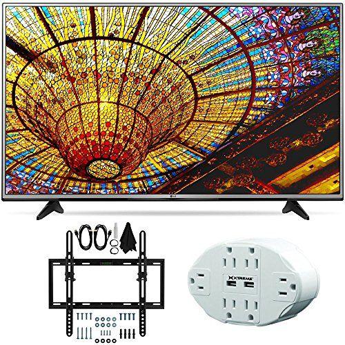 Bundle Includes LG 43UH6030 - 43-Inch 4K UHD Smart LED TV Flat & Tilt Wall Mount Kit Ultimate Bundle for 19-45 inch TVs 6 Outlet Wall Tap w/ 2 USB Ports 4K UHD Ultra high-definition TVs offe...