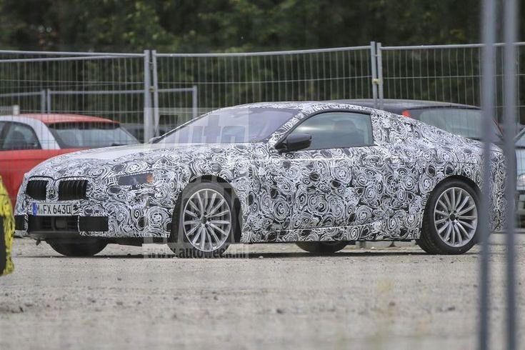 Op het terrein van een BMW-testcentrum is tussen een enorme vloot gecamoufleerde auto's een grote nieuwe coupé waargenomen. Het lijkt om de toekomstige 8-serie te gaan.
