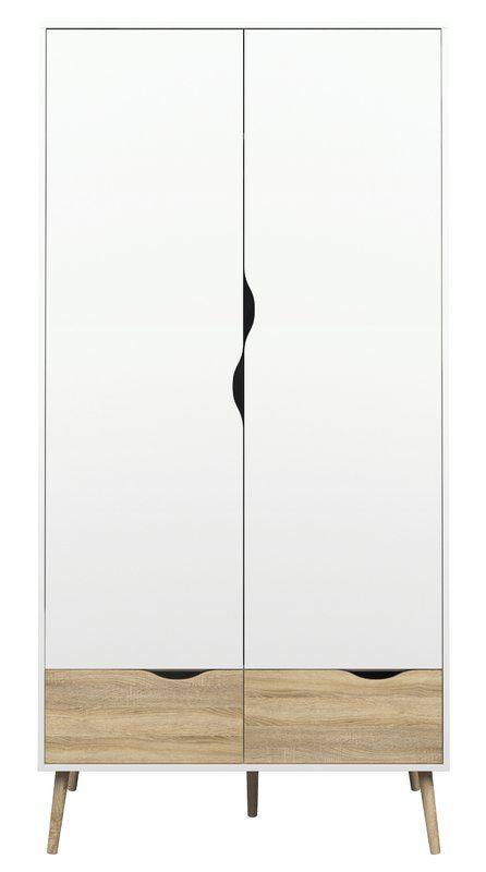 Zephyr 2 Drawer And Door Armoire