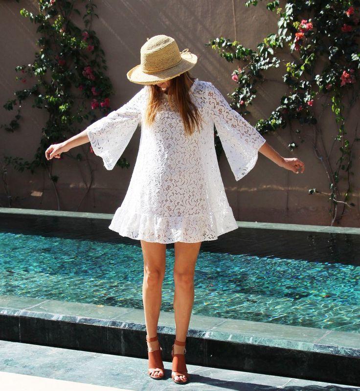 Premee Dress - White Lace