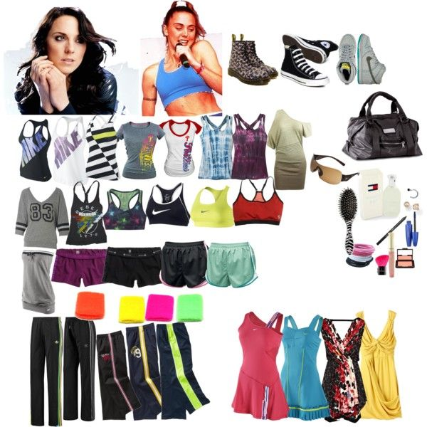 Sporty Spice (Mel C) from the spice girls clothing style
