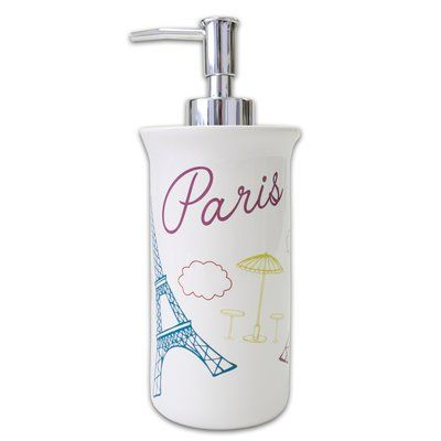 East Urban Home Paris France Lotion and Soap Dispenser