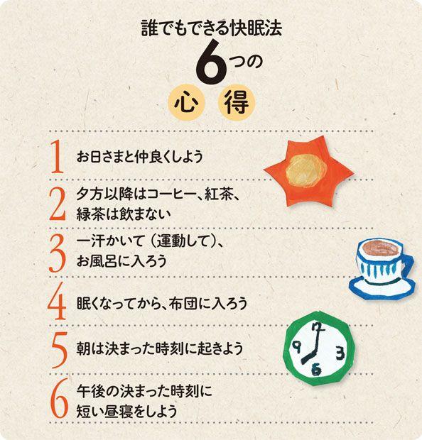 誰でもできる快眠法6つの心得(週刊朝日ムック『すべてがわかる 認知症2016』より)