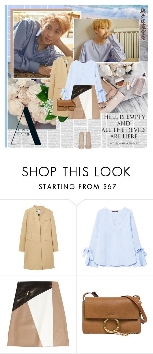 """BTS"" by ioreth ❤ liked on Polyvore featuring MANGO, Michael Kors, Chloé, Aquazzura, Murphy, kpop, korean, DNA, korea and bts"