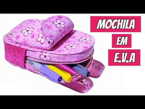 Mochilinha feita em EVA - YouTube