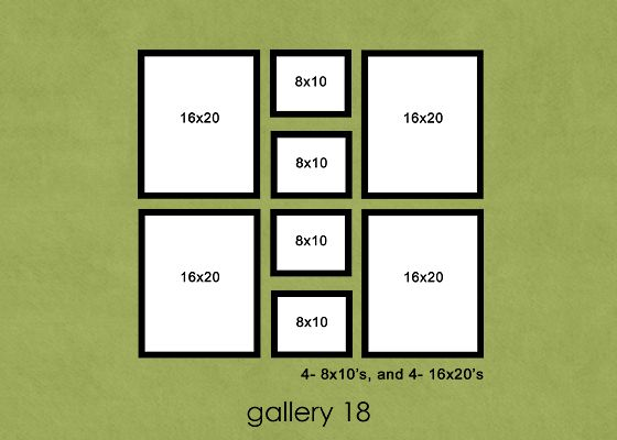 37 different layouts to group and display photos in your home.