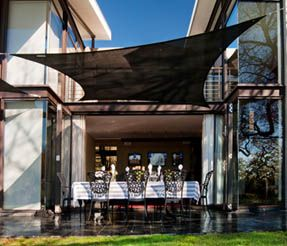 Coolaroo shade sails create shade for your home