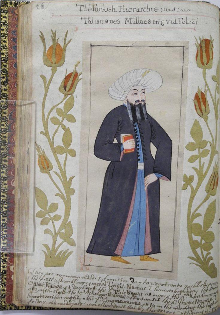 "Mulla, leader of public worship, in ""A briefe relation of the Turckes, their kings, Emperors, or Grandsigneurs, their conquests, religion, customes, habbits, etc"", 1618, Otoman dynasty"