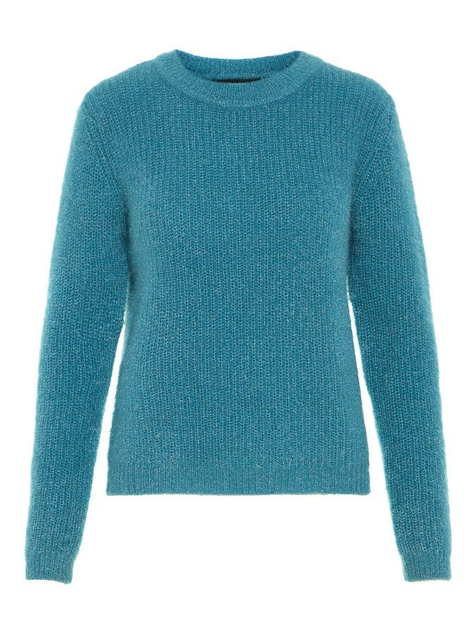 Neck Blue Pullover In O Vero Knitted Moda Knitwear Large Smoke SPUSndq1