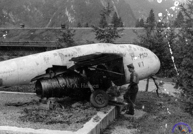 7854 Military Intelligence Detachment (Source: Arthur Hansen) This photo was taken of Arthur Hansen at the Intelligence School in Oberammergau. He is standing next to the Messerschmitt P-1101 prototype.