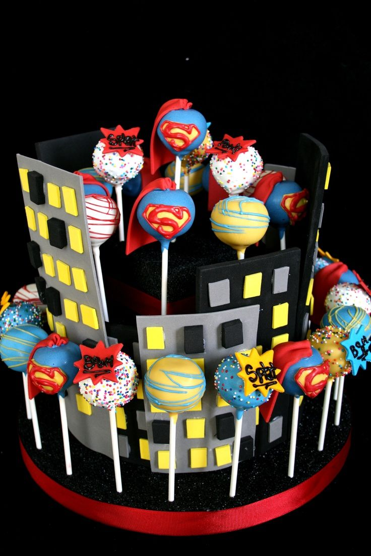 Superhero Cake Pop Recipe Visit Facebook Com Superhero