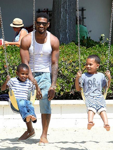 How sexy is this?  One of our heros from The SARA Cruise. Usher and his youngest Usher Raymond V