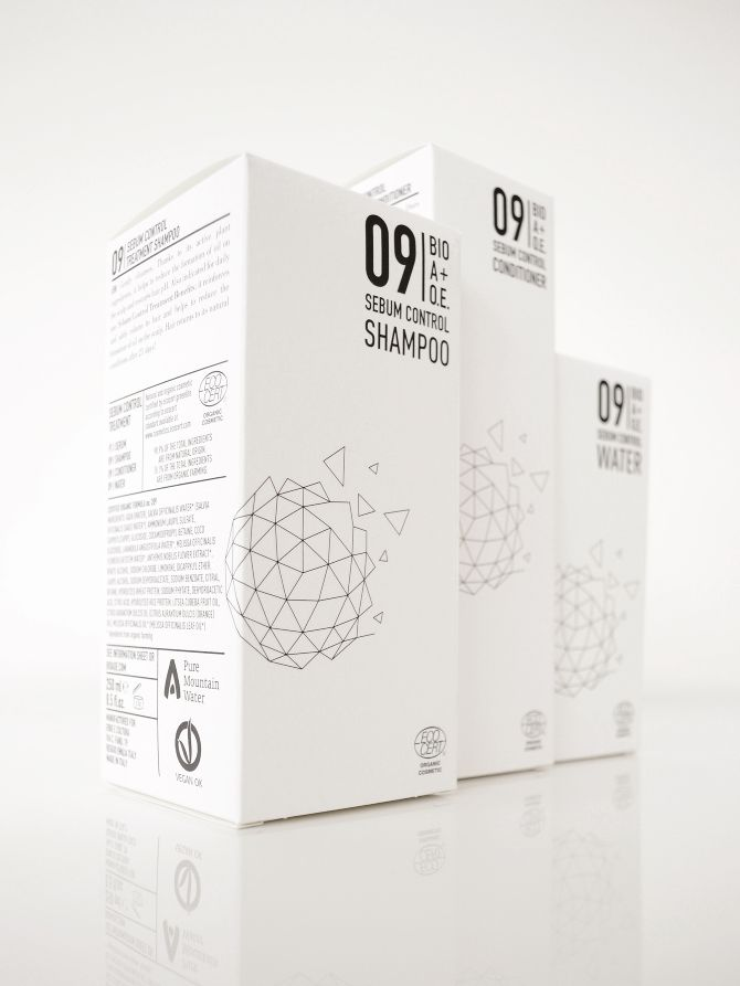 BIO A+O.E. is a brand for the Professional Organic Haircare Treatment by the Italian ErbeCultura. The packaging design is about an abstract, technical evolution of the Dandelion flower, a simple symbol of natural and timeless beauty.